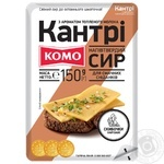 Сыр Комо Кантри полутвердый со вкусом топленого молока нарезанный 50% 150г - купить, цены на Фуршет - фото 1