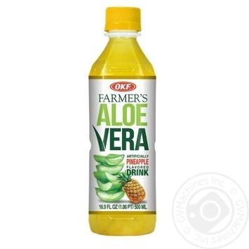 Напій OKF Farmer's Алое Вера зі смаком ананаса 500мл - купити, ціни на Метро - фото 1
