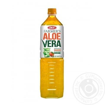 Напиток OKF Farmer's Алоэ Вера со вкусом манго 1,5л - купить, цены на Метро - фото 1