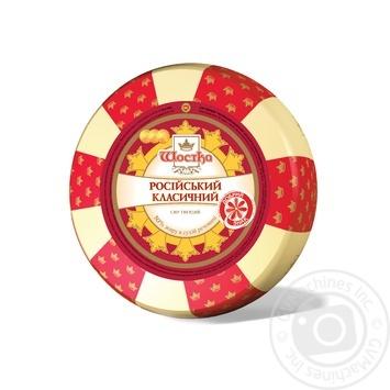 Сыр Шостка Российский классический 50% - купить, цены на МегаМаркет - фото 1