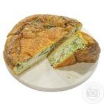 Пирог заливной с курицей и брокколи