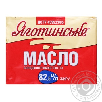 Масло Яготинське солодковершкове екстра 82.5% 200г