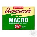 Масло Яготинське солодковершкове бутербродне 69.2% 200г
