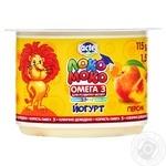 Yogurt Lactel Loko Moko peach enriched with calcium omega-3 and vitamin D 1.5% 115g