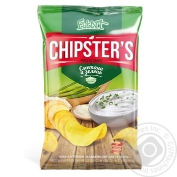 Flint Chipster's Sour Cream & Greens Potato Chips - buy, prices for Furshet - image 1