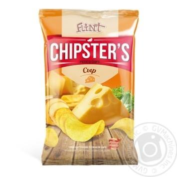 Чипсы Flint Chipster's картофельные со вкусом Сыр 70г