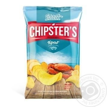 Скидка на Чипсы Flint Chipster's картофельные со вкусом краба 130г