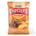 Чипсы Flint Chipster's картофельные волнистые со вкусом телятины с аджикой 120г