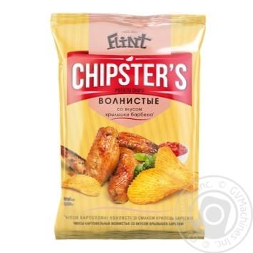 Чипсы Flint Chipster's картофельные волнистые со вкусом крылышек барбекю 70г