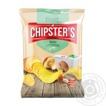 Скидка на Чипсы Flint Chipster's картофельные со вкусом грибов в сливочном соусе 130г