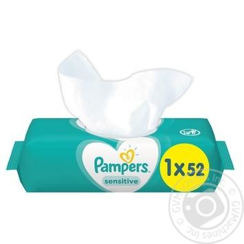 Салфетки влажные Pampers Sensetive 52шт - купить, цены на Varus - фото 3