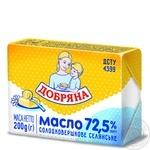 Масло Добряна сладкосливочное селянское 72,5% 200г