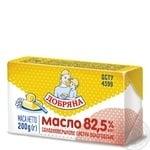 Масло Добряна Вологодское сладкосливочное 82.5% 200г