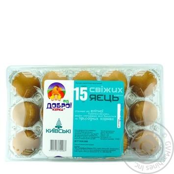 Vid Dobroi Kurky Kyivski Chicken Eggs С1 15pcs - buy, prices for CityMarket - photo 1