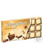 Шоколад Schogetten молочний трилогія 100г