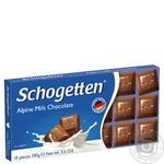 Шоколад Schogеtten молочный альпийский 100г