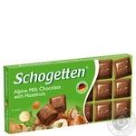 Chocolate milky Schogetten with hazelnuts bars 100g