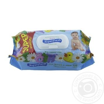 Super Fresh Children's Wet Napkins the Valve 120pcs - buy, prices for Novus - photo 1