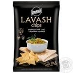 Чіпси Snekkin Lavash пшеничні зі смаком французького соусу із зернами гірчиці 70г