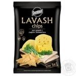 Чипсы Snekkin Lavash пшеничные со вкусом лука-порея с сыром Эмменталь 70г