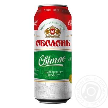Пиво Оболонь Світле пастеризоване 4.5%об. 500мл