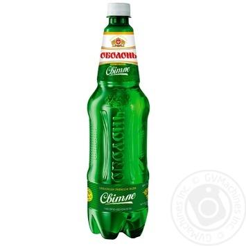 Пиво Оболонь светлое 1,1л