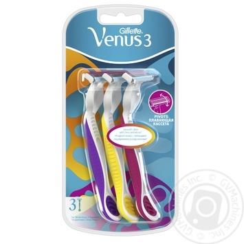 Бритвы Simply Venus 3 Plus одноразовые 3шт - купить, цены на Таврия В - фото 1
