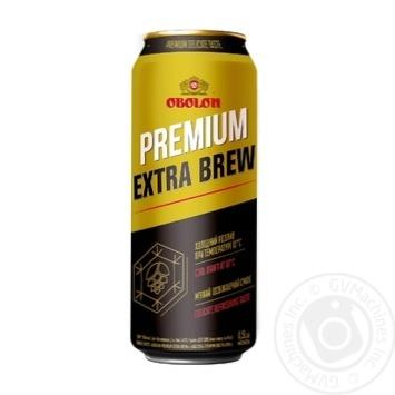 Пиво світле Оболонь Premium Extra Brew 4,6% 0,5л з/б