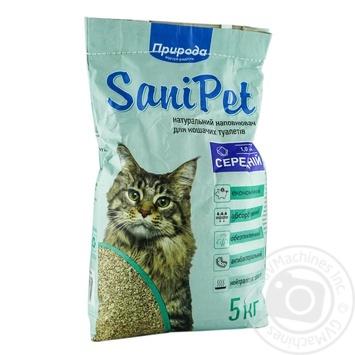 Наполнитель гигиенический Природа Sani Pet для котов бентонитовый средний 5кг