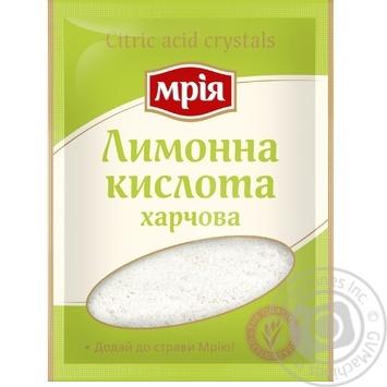 Лимонная кислота Мрия пищевая 25г - купить, цены на МегаМаркет - фото 1