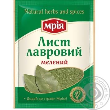 Лист лавровый Мрия молотый 20г - купить, цены на Novus - фото 1
