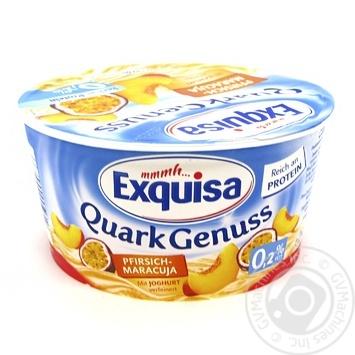 Dessert Exquisa milky peach chilled 0.2% 500g - buy, prices for MegaMarket - image 1