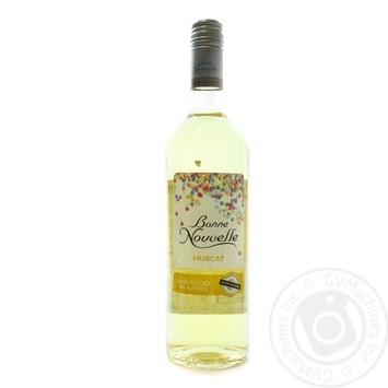 Вино Bone Nouvelle Muscat белое полусладкое безалкогольное 0.5% 0,75л - купить, цены на Novus - фото 1