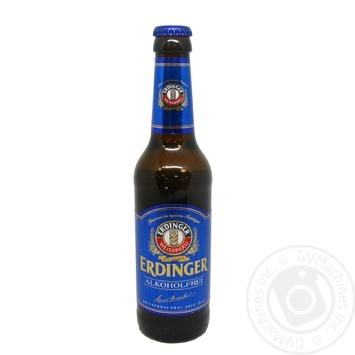 Пиво Erdinger Alkoholfrei безалкогольное солодовое светлое 0,4% 0.33л - купить, цены на Восторг - фото 1