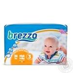 Brezzo Midi 3 Baby Diapers 4-9kg 36pcs