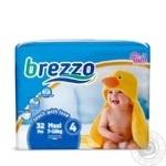 Brezzo Maxi 4 Baby Diapers 7-18kg 32pcs