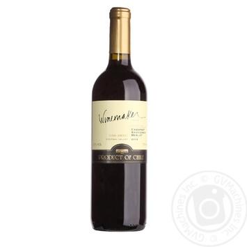 Winemaker Cabernet Sauvinion Merlot Semi-Sweet Red Wine