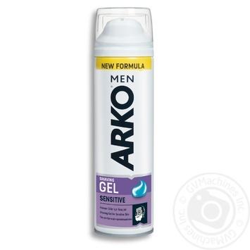 Гель Arko для чувствительной кожи для бритья 200мл