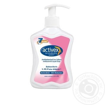 Мыло жидкое Activex антибактериальное увлажняющее 300мл - купить, цены на Novus - фото 1
