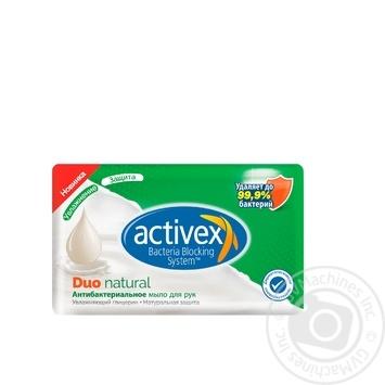 Мило Activex Duo Natural антибактеріальне 120г - купити, ціни на CітіМаркет - фото 1