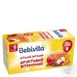 Фиточай Bebivita фруктовый витаминный для детей с 6 месяцев 30г