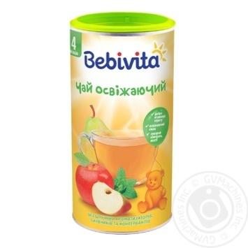 Чай Bebivita Освежающий сухой быстрорастворимый для детей с 4 месяцев 200г - купить, цены на Ашан - фото 1