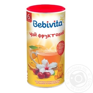 Bebivita For Babies From 6 Months Dry Instant Fruit Tea 200g - buy, prices for Auchan - photo 1