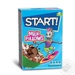 Сухі сніданки Start! зернові подушечки з молочною начинкою 250г - купити, ціни на Novus - фото 1