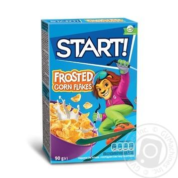 Сухие завтраки Start! зерновые хлопья кукурузные глазированные 90г - купить, цены на Novus - фото 1