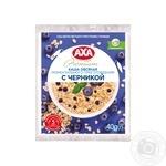 Каша вівсяна AXA з чорницею миттєвого приготування 40г - купити, ціни на Метро - фото 1