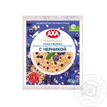 Каша овсяная AXA с черникой моментального приготовления 40г - купить, цены на Восторг - фото 1