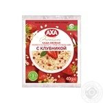AXA With Strawberries Quick-Cooking Oatmeal Porridge 40g