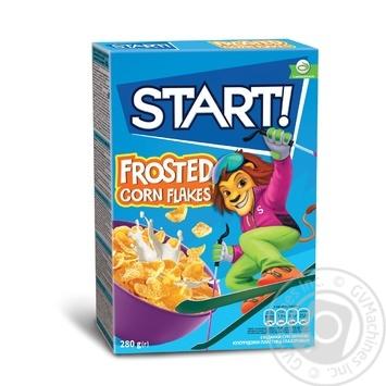 Сухие завтраки Start! зерновые хлопья кукурузные глазированные 280г - купить, цены на МегаМаркет - фото 1