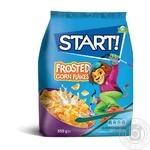 Сухие завтраки Start! зерновые хлопья кукурузные глазированные 850г - купить, цены на Novus - фото 1